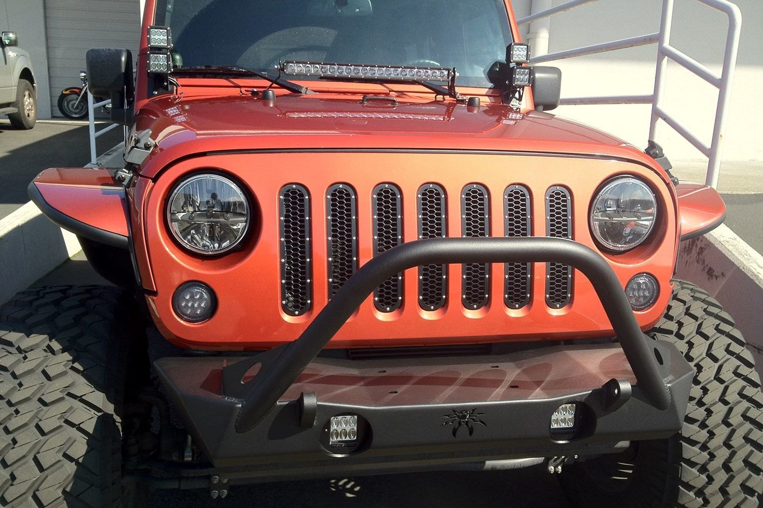 Rigid industries jeep wrangler 2013 2017 hood mounts for led industries hood mounts for 10 e or sr series led light bar mozeypictures Image collections