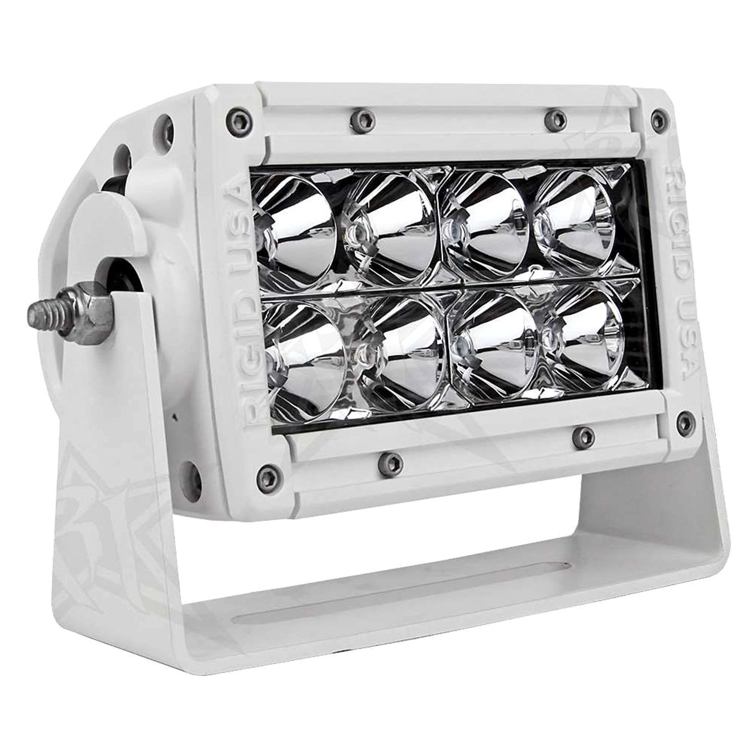 Rigid industries cradle mount for e series led light bar industries white powder coat cradle mount for 4 e series led light barrigid aloadofball Images