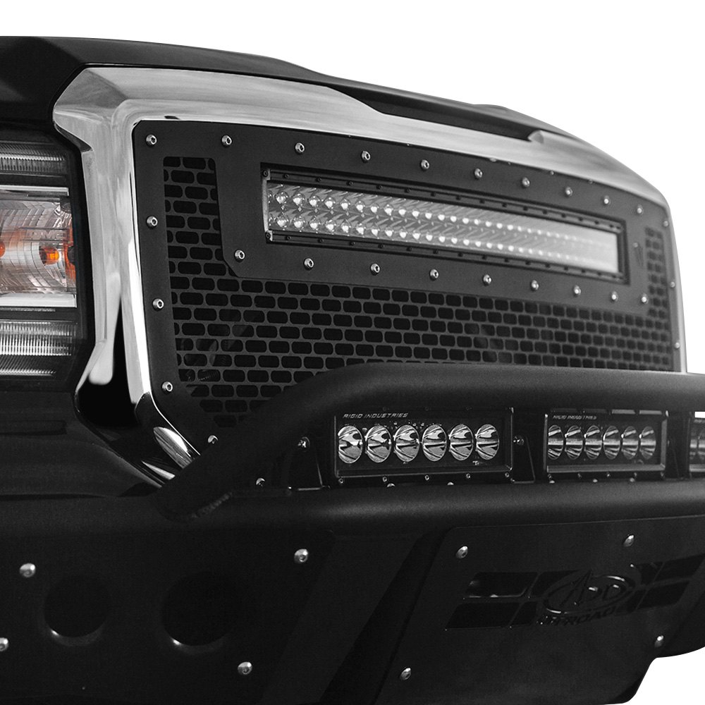 Rigid Industries 41599 Black Cnc Machined Main Grille With 1 X 30