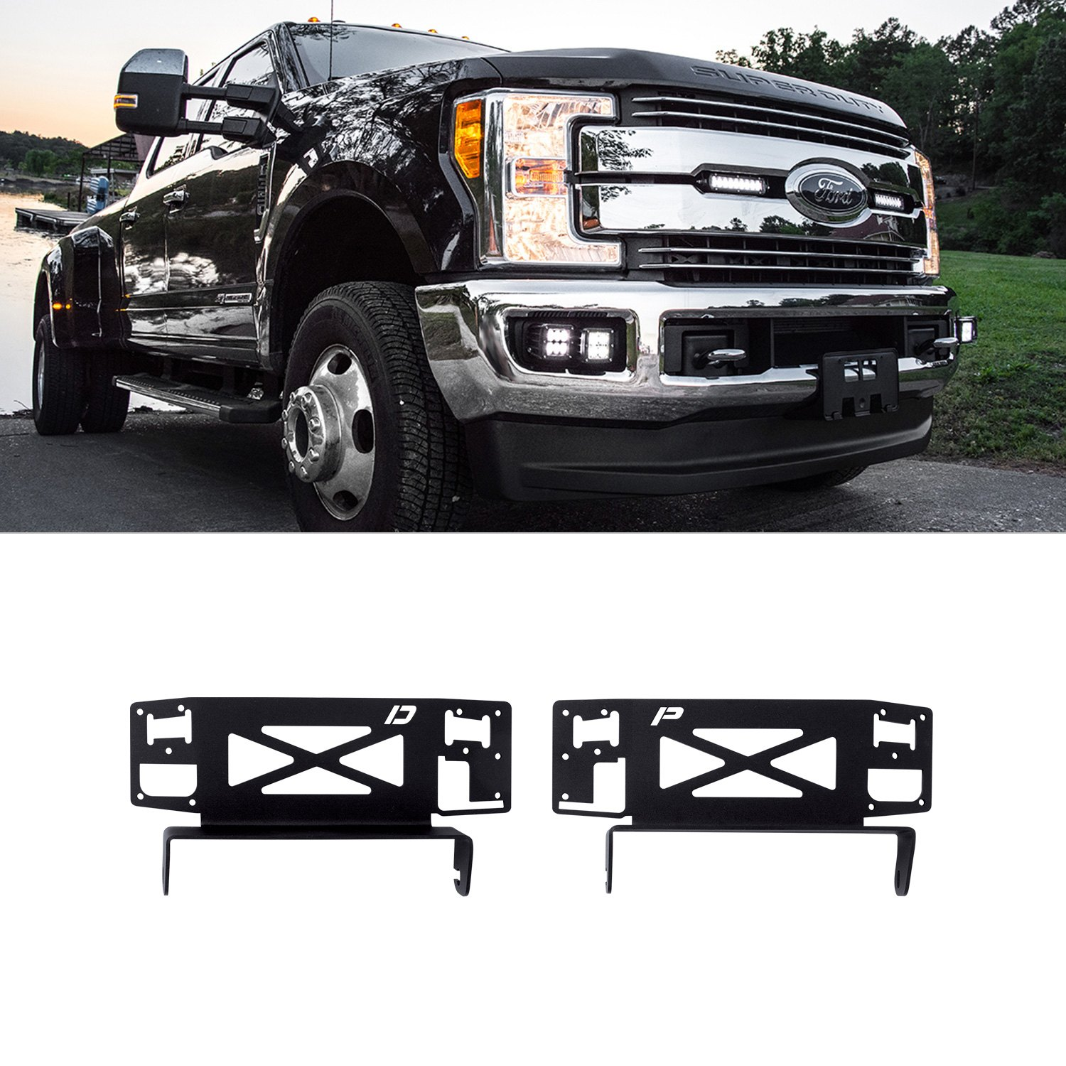 Rigid Industries 41619 Grille Mounts For 2x6 Sr Series Led Light Bars