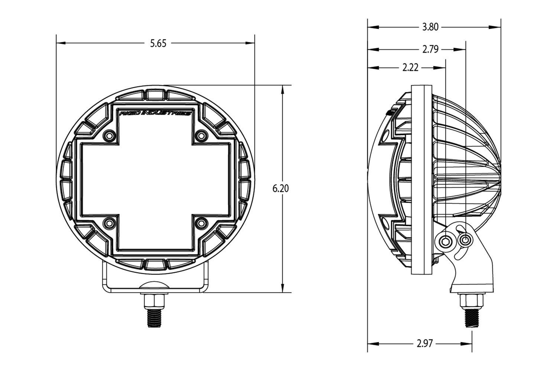 Rigid Industries 83361 R2 46 Series 565 2x498w Hyperspot Lights Wiring Diagram Schemerigid Driving Combo Beam Led Light