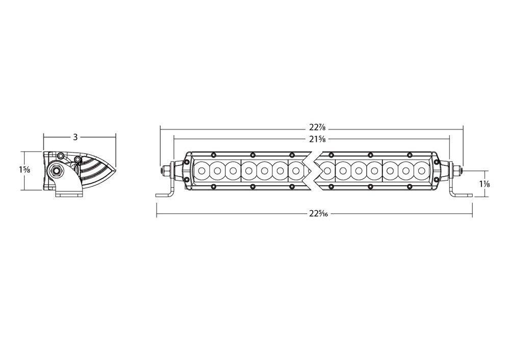 rigid industries® 92031 sr series 20 75 9w single row combo rigid industries® sr series 20 75 9w single row combo spot