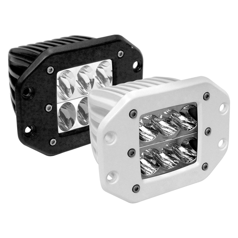 Rigid Industries D2Series Flush Mount 3 345W Amber LED Lights