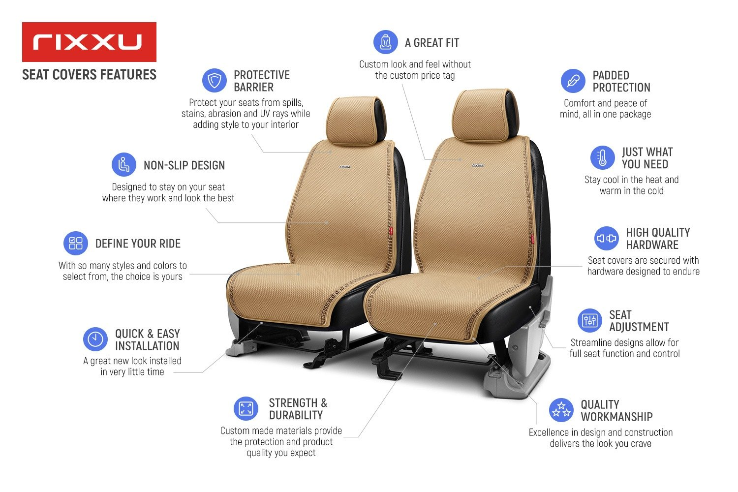 Slimline Series Seat Covers Features