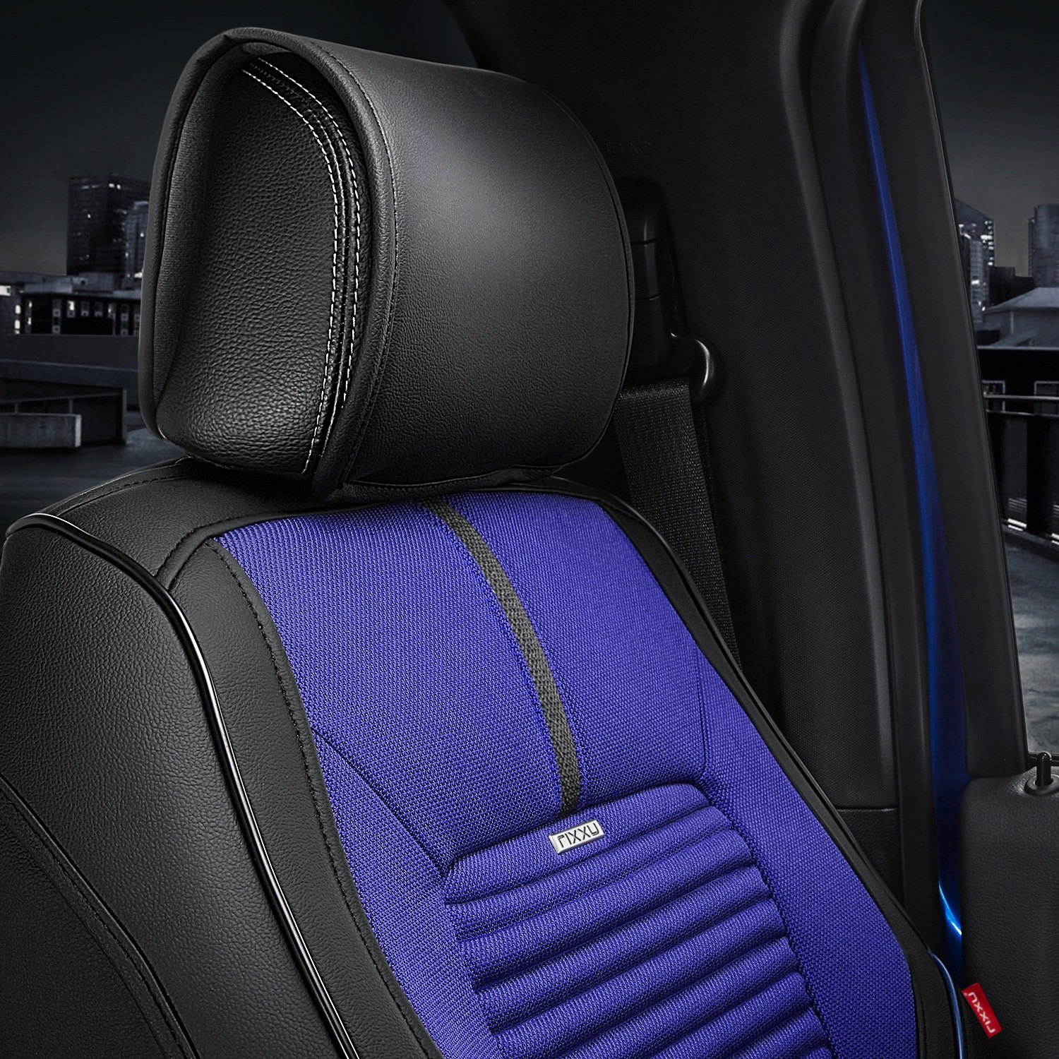 Magnificent Sporty 2 Tone Blue Black Automotive Comfortable Fabric Car Pdpeps Interior Chair Design Pdpepsorg