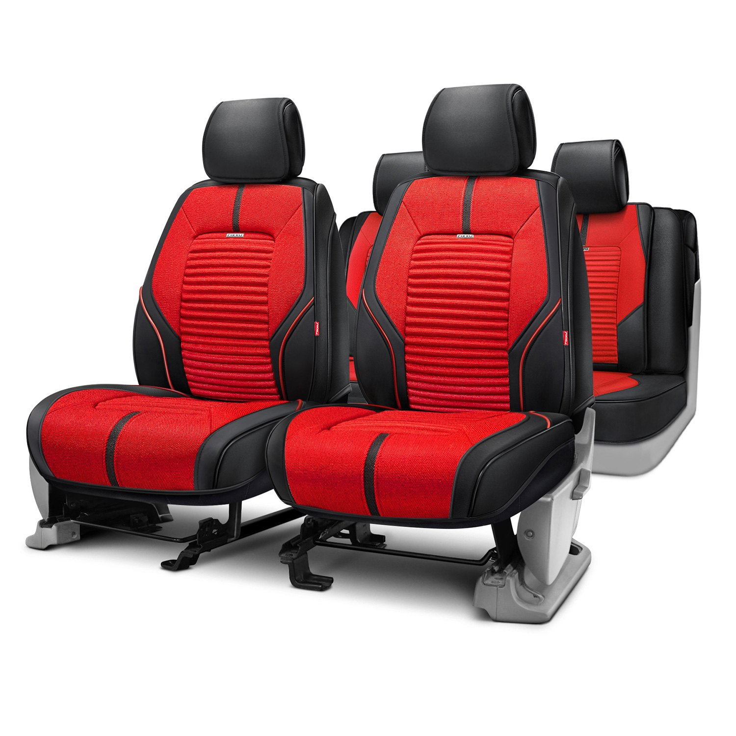 Rixxu™   Super Sport Series Red Seat Covers With Black Sides