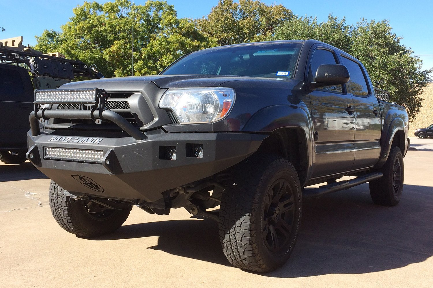 road armor toyota tacoma 2015 stealth series full width front hd bumper with pre runner guard. Black Bedroom Furniture Sets. Home Design Ideas