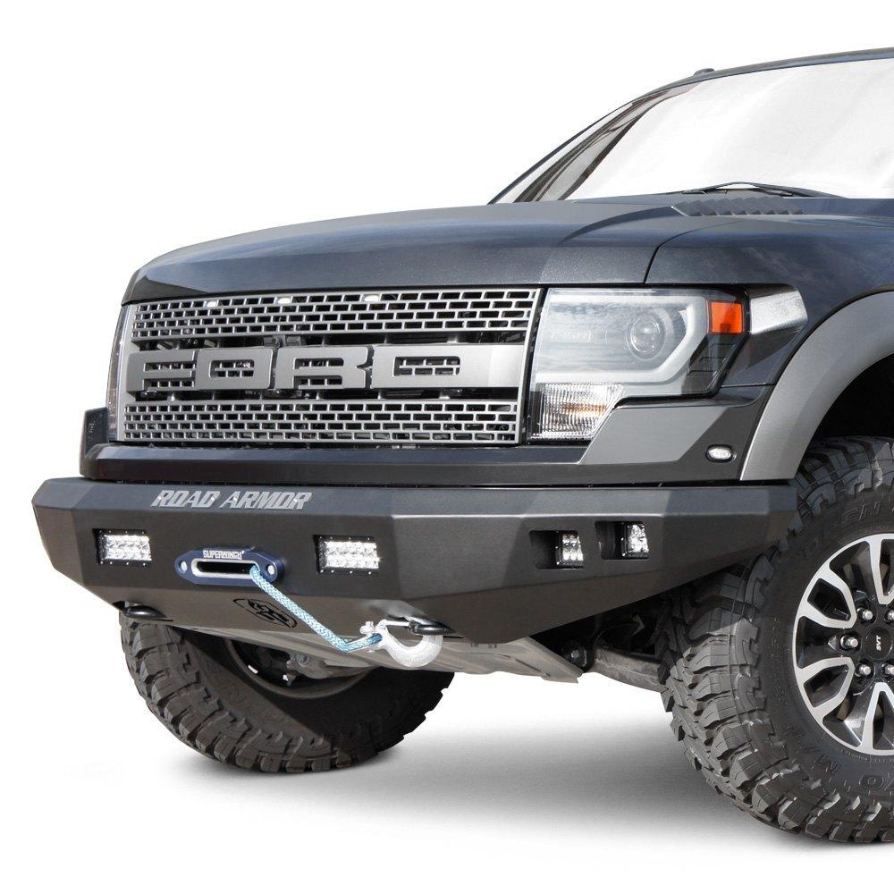Heavy Duty Front Steel Bumper With Winch Mount Da5645 For: Chevy Silverado 1500 16-17 Stealth Series Full Width Black