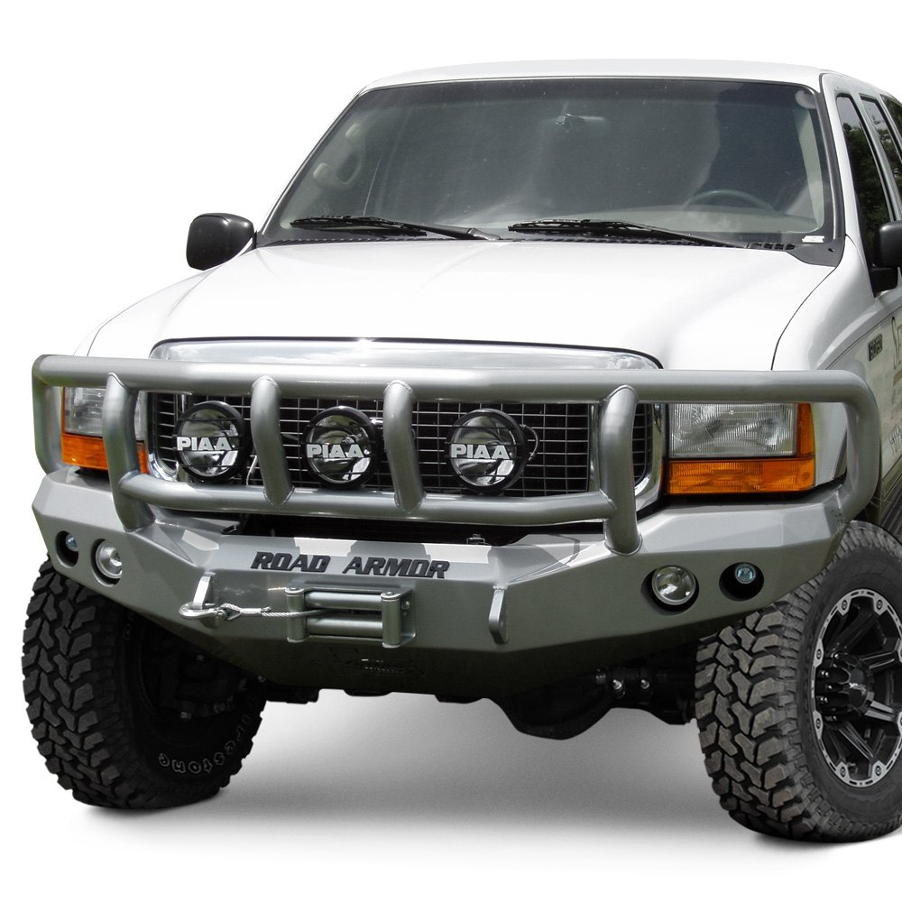 Car Bumper Guard >> Road Armor® - Ford F-250 2005-2007 Stealth Series Full Width Front Winch HD Bumper with Titan II ...