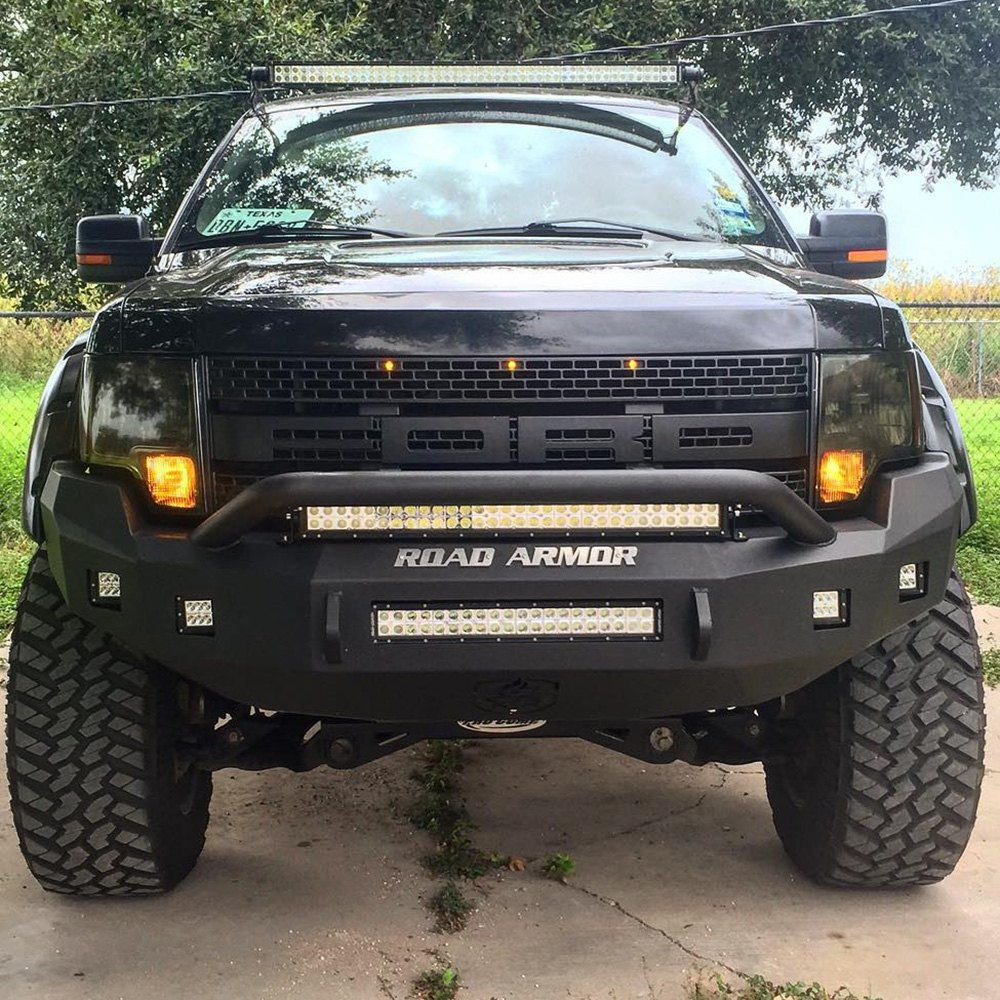 Road armor ford f 150 2012 stealth series full width front hd bumper with pre runner guard