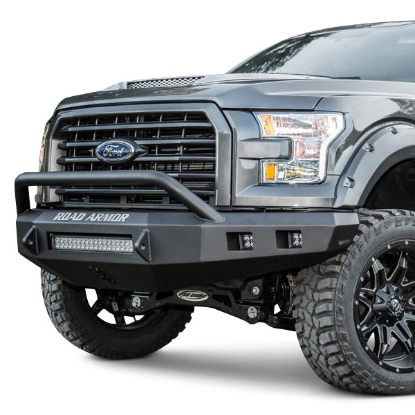 Off Road Bumpers F150 >> Road Armor® - Ford F-150 2015-2016 Stealth Series Full Width Front HD Bumper with Pre-Runner Guard