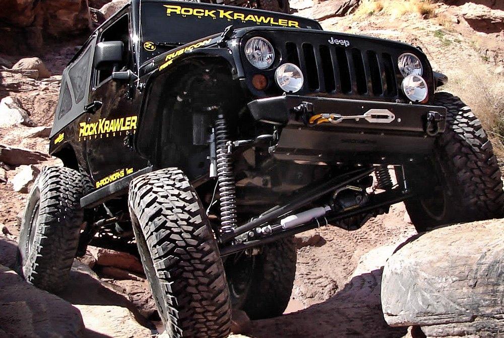 Jeep rock crawler suspension