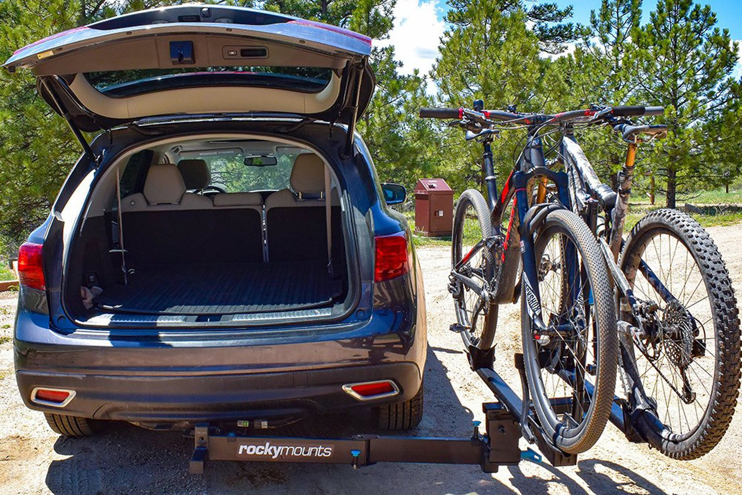Receiver Hitch Bike Rack >> Rockymounts 10002 Back Stage Swing Away Platform Hitch Mount