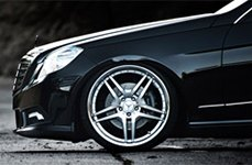 Roderick RW2 Silver with SS Lip on Mercedes E350
