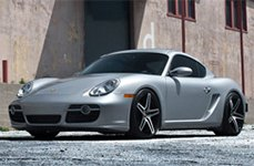 Roderick RW5 Black with Brushed Face on Porsche Cayman