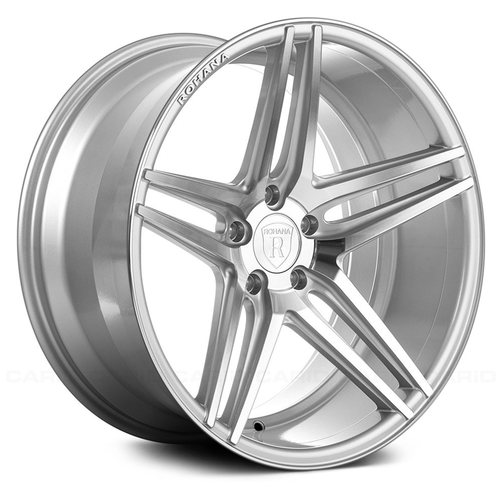 Rohana 174 Rc8 Wheels Silver With Machined Face Rims