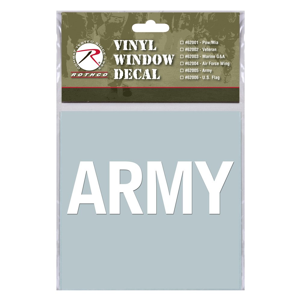 Rothco military vinyl window decal for Vinyl window reviews
