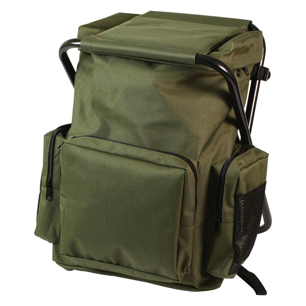 Rothco 174 4568 Olive Drab Backpack And Stool Combo Pack
