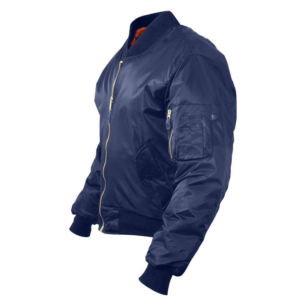 Rothco® 7325-M - Navy Blue MA-1 Flight Jacket, M