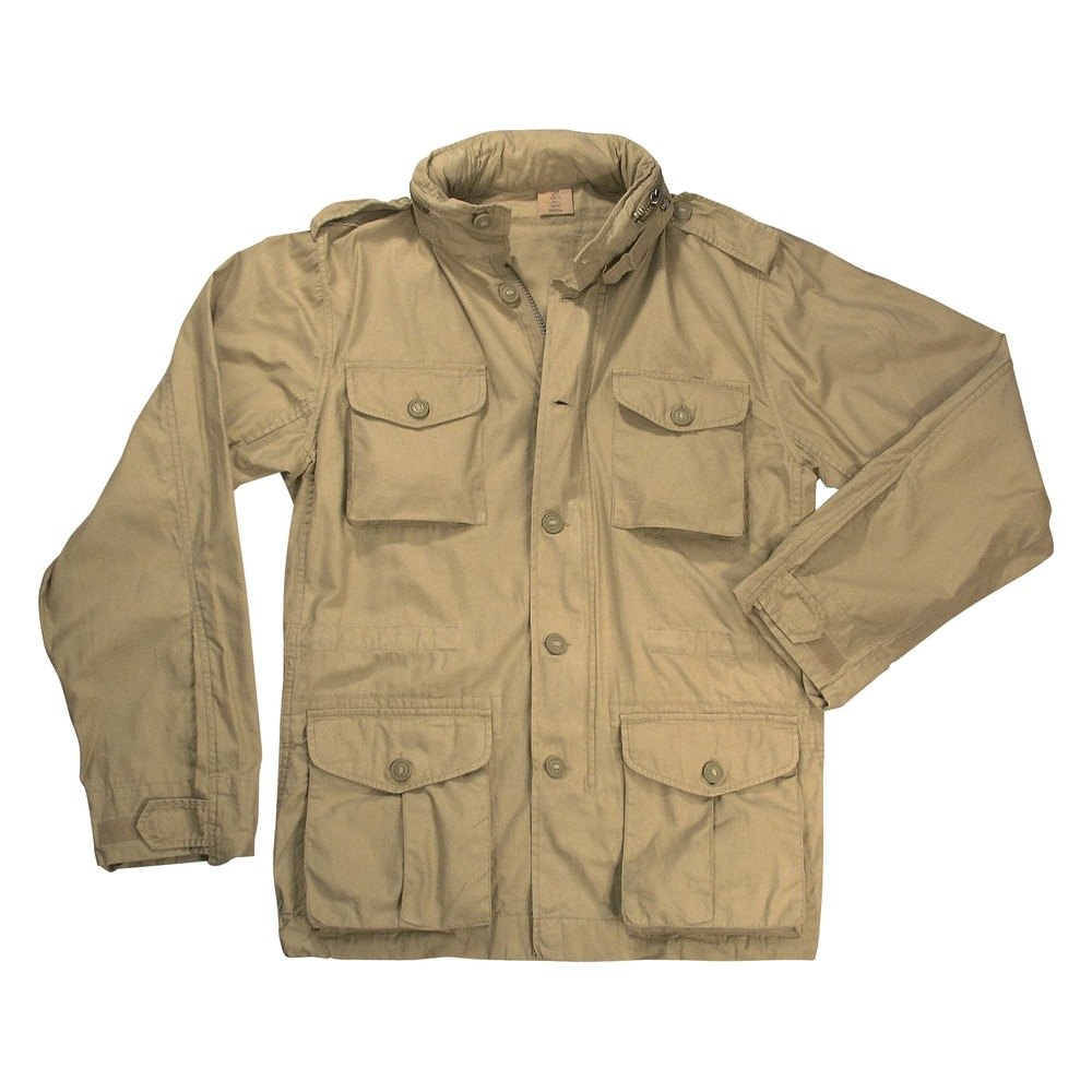 rothco 8742 khaki vintage lightweight m 65 jacket xxl. Black Bedroom Furniture Sets. Home Design Ideas