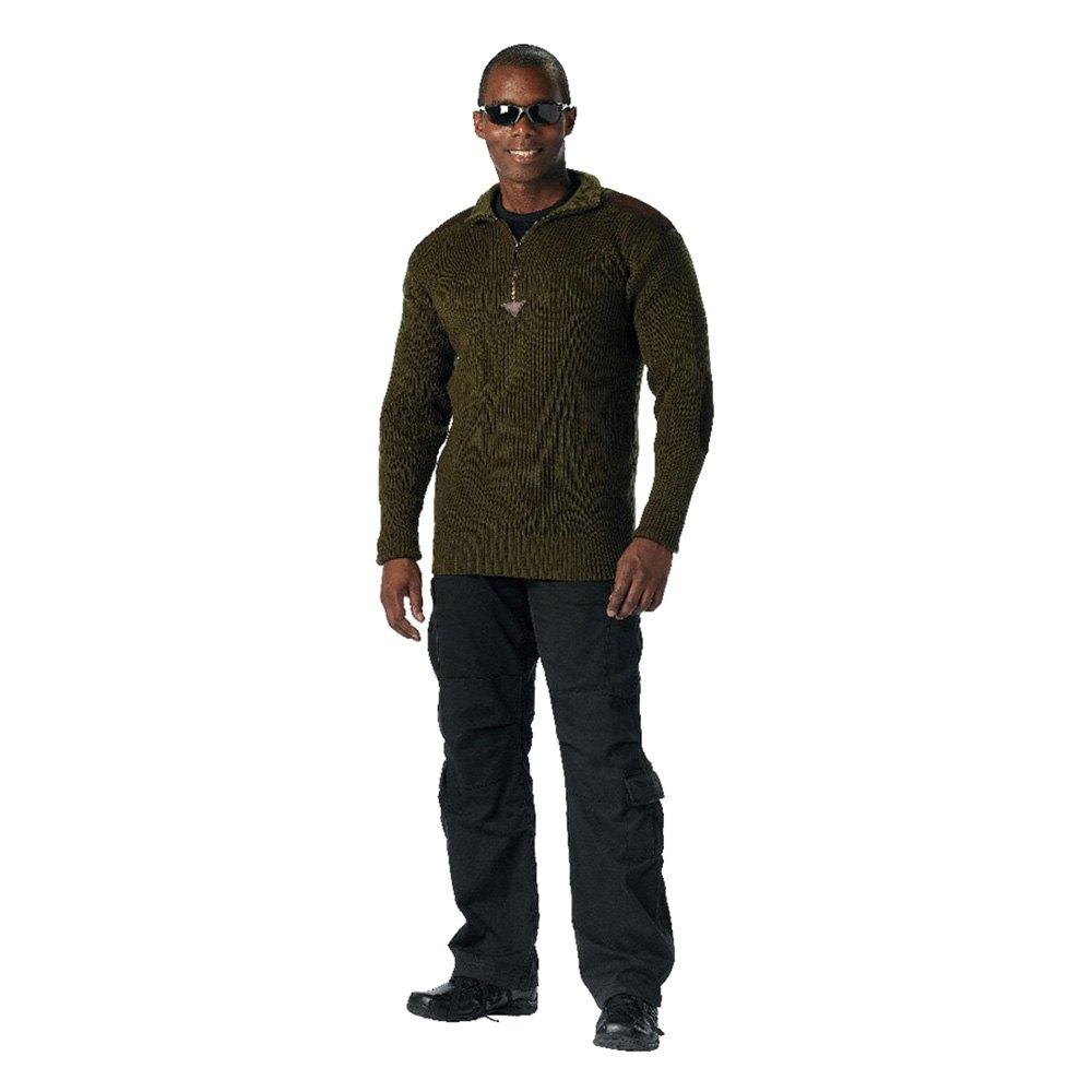 commando sweater s rothco   olive drab quarter zip acrylic commando