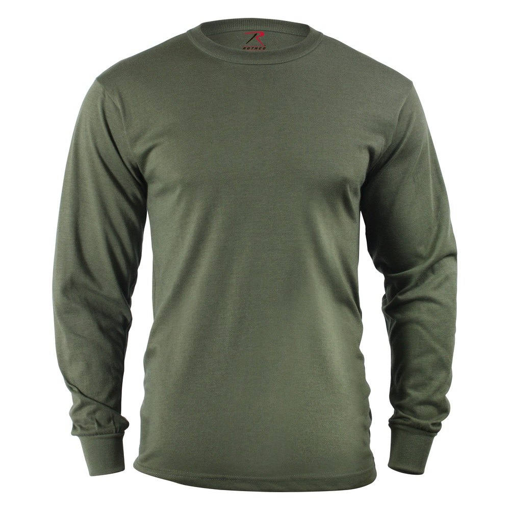 Rothco 60120 Olive Drab Long Sleeve Solid Poly Cotton T
