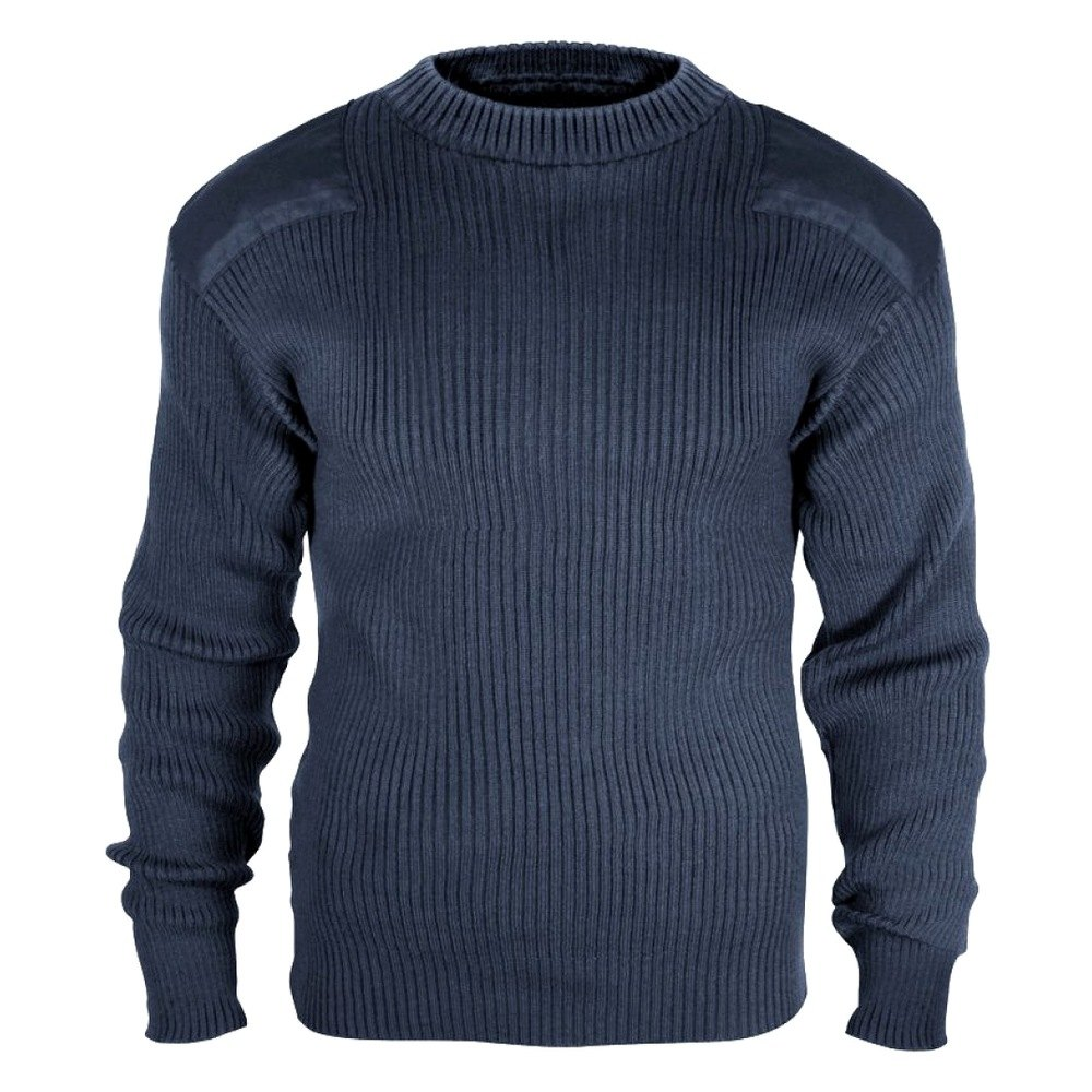 rothco 6362   black government type wool commando sweater