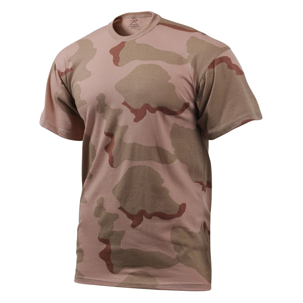 rothco 8768 tri color desert camo t shirts xxl. Black Bedroom Furniture Sets. Home Design Ideas