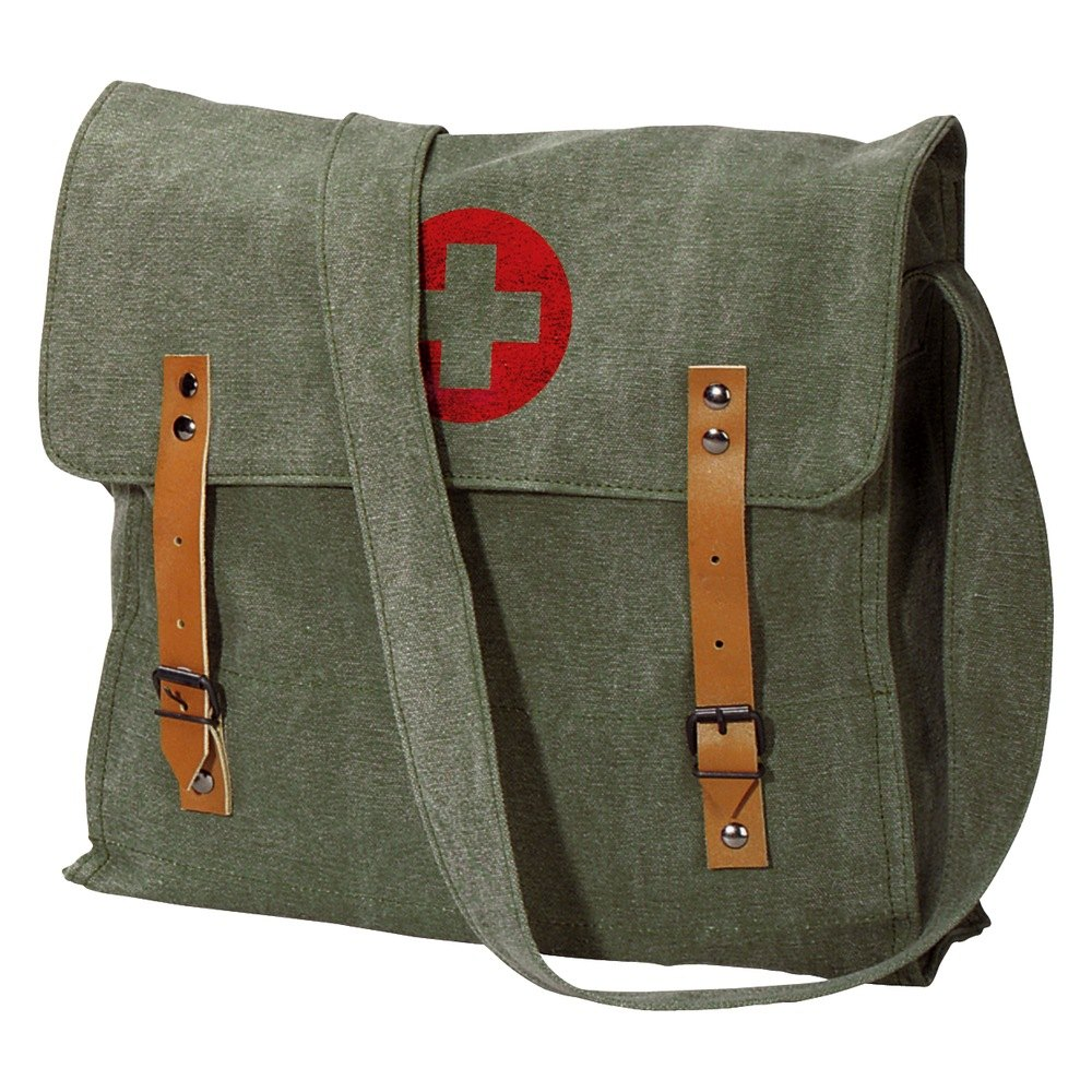 rothco 174 vintage medic bag with cross