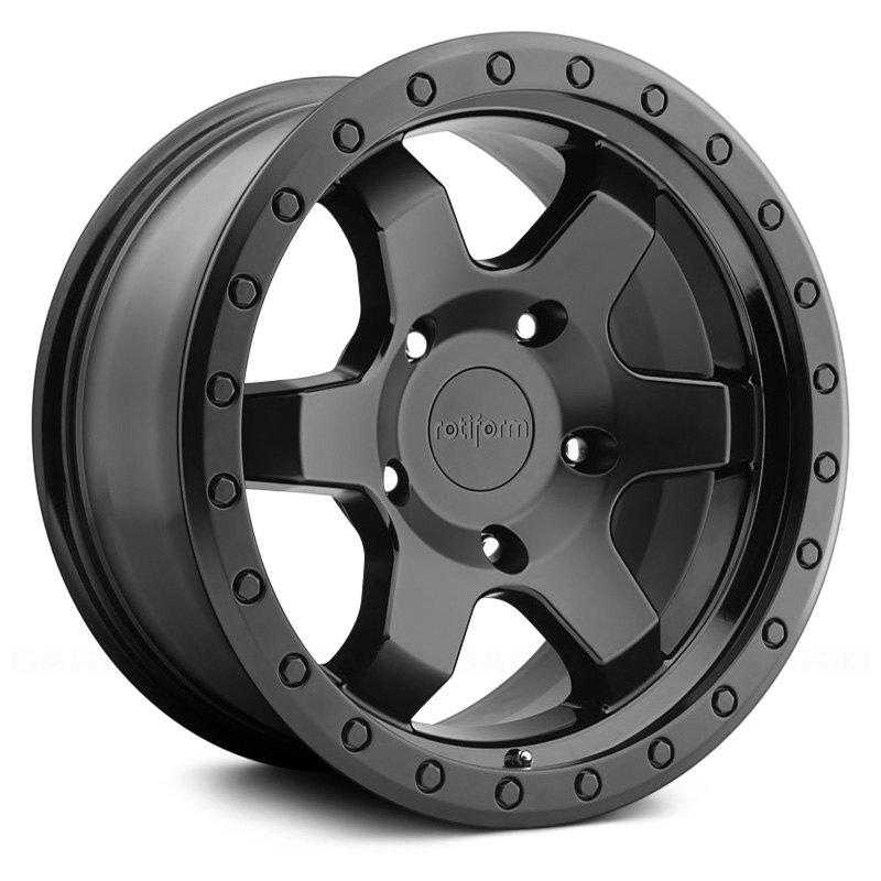For Jeep Wrangler 07-18 Rotiform SIX OFFROAD Wheels 17x9