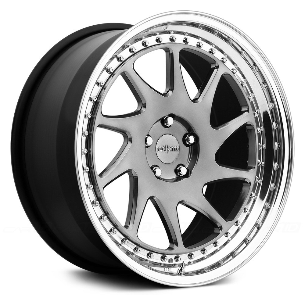 ROTIFORM® OZT 3PC Wheels - Any Single Generic Color with Polished Lip