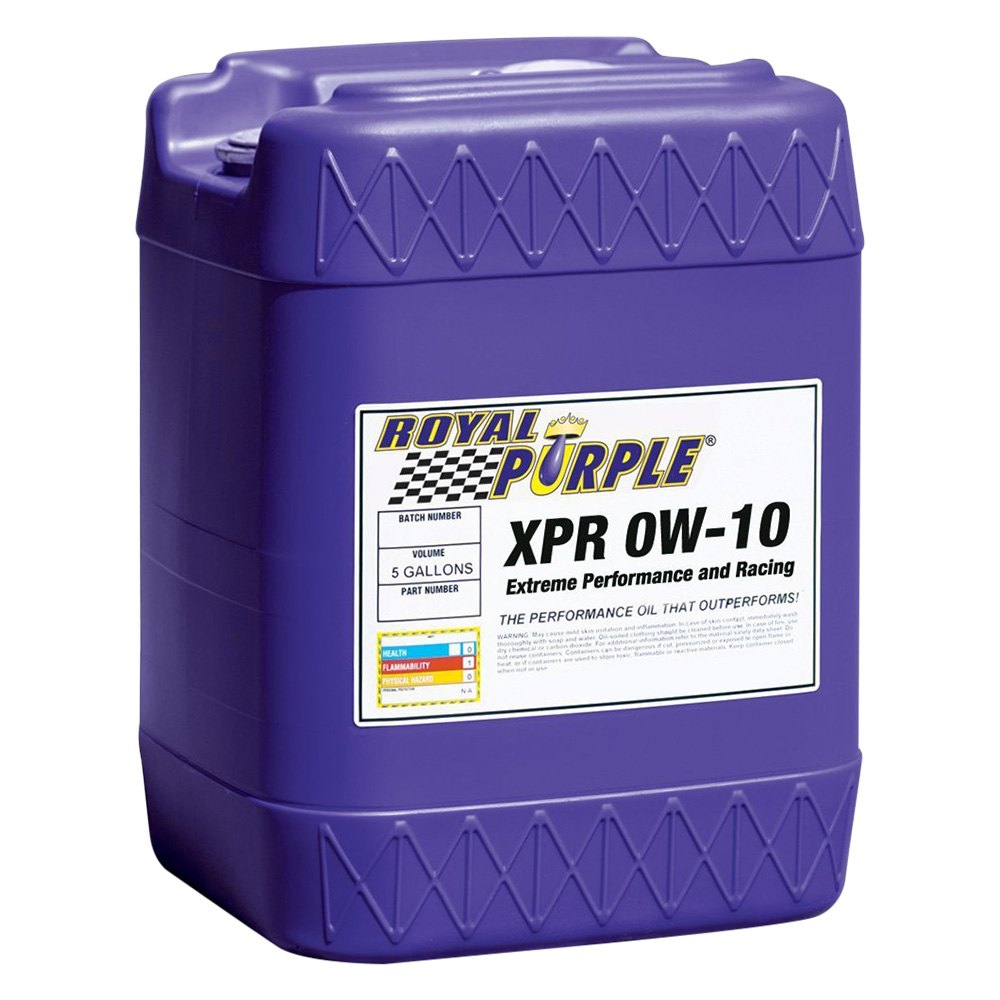 Royal Purple Oil Review >> Royal Purple 05009 Xpr Sae 0w 10 Synthetic Motor Oil 5 Gallons
