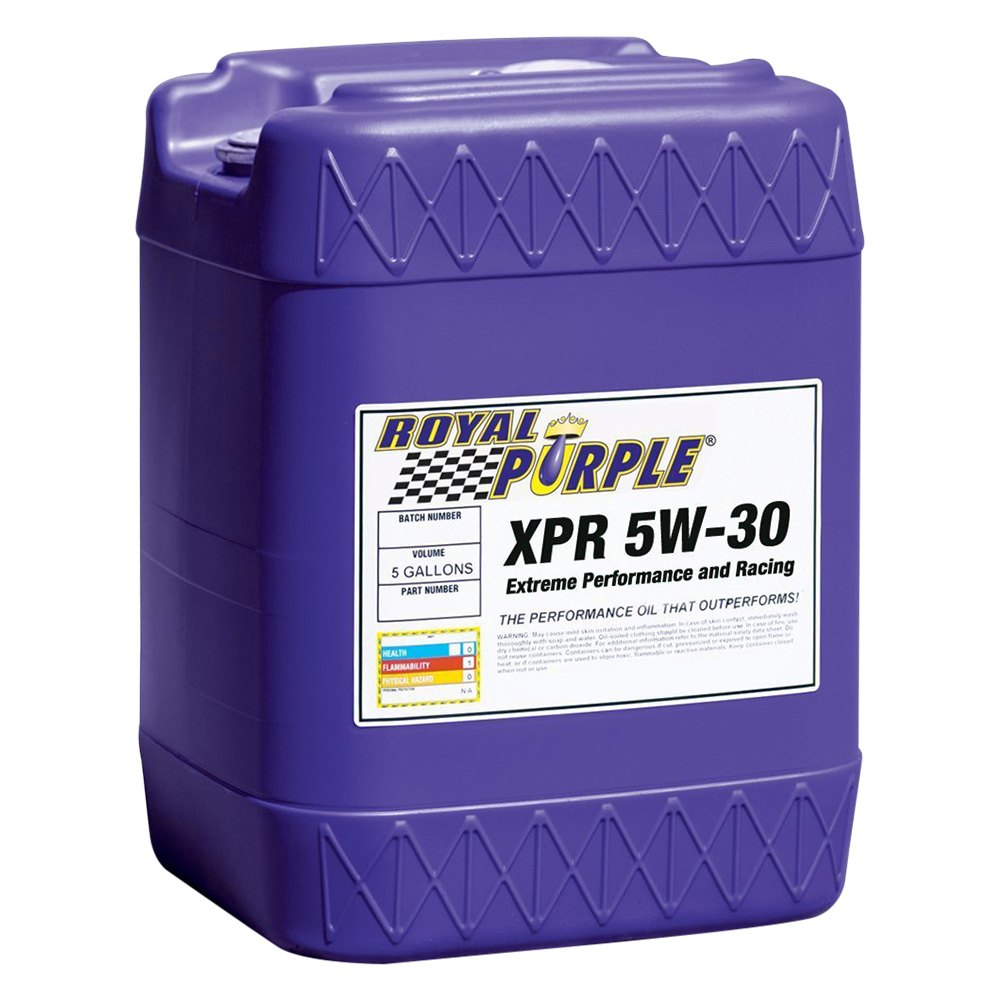royal purple 05021 xpr sae 5w 30 ultra light extreme performance 5 gallon synthetic racing. Black Bedroom Furniture Sets. Home Design Ideas
