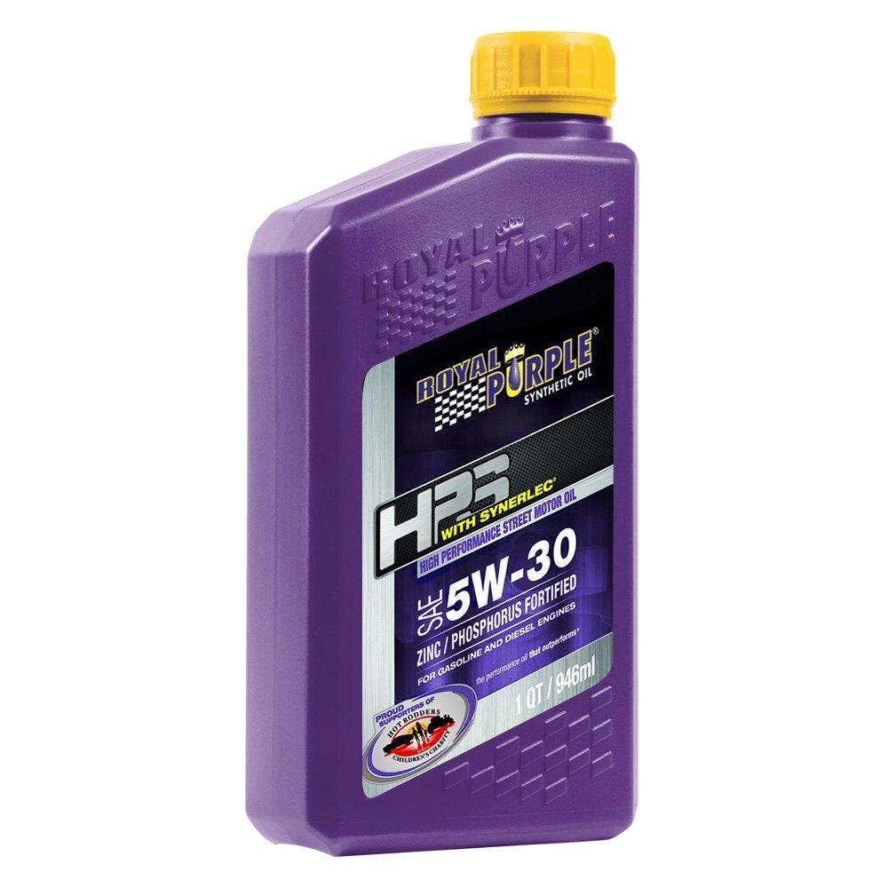 royal purple 31530 hps sae 5w 30 high performance street 1 quart synthetic motor oil bottle. Black Bedroom Furniture Sets. Home Design Ideas