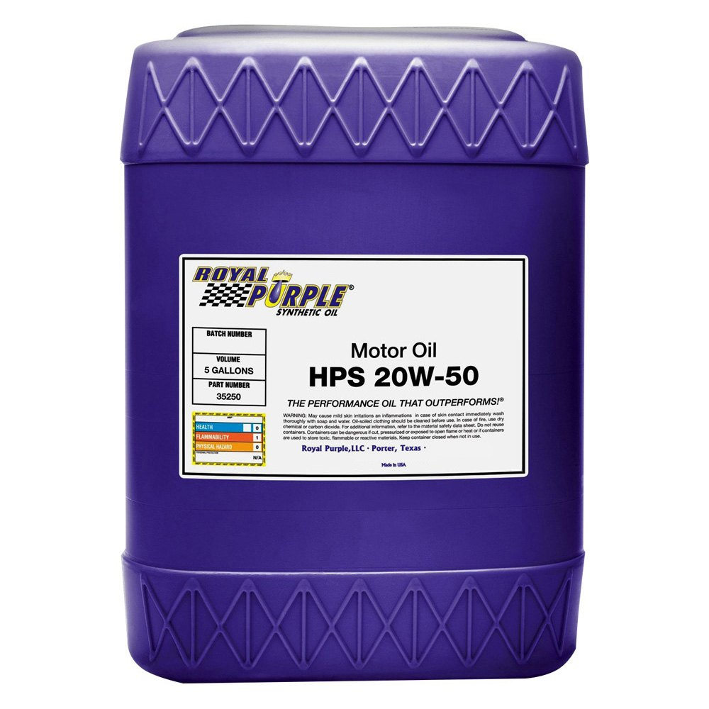 Royal purple 35250 hps sae 20w 50 high performance for Gallon of motor oil