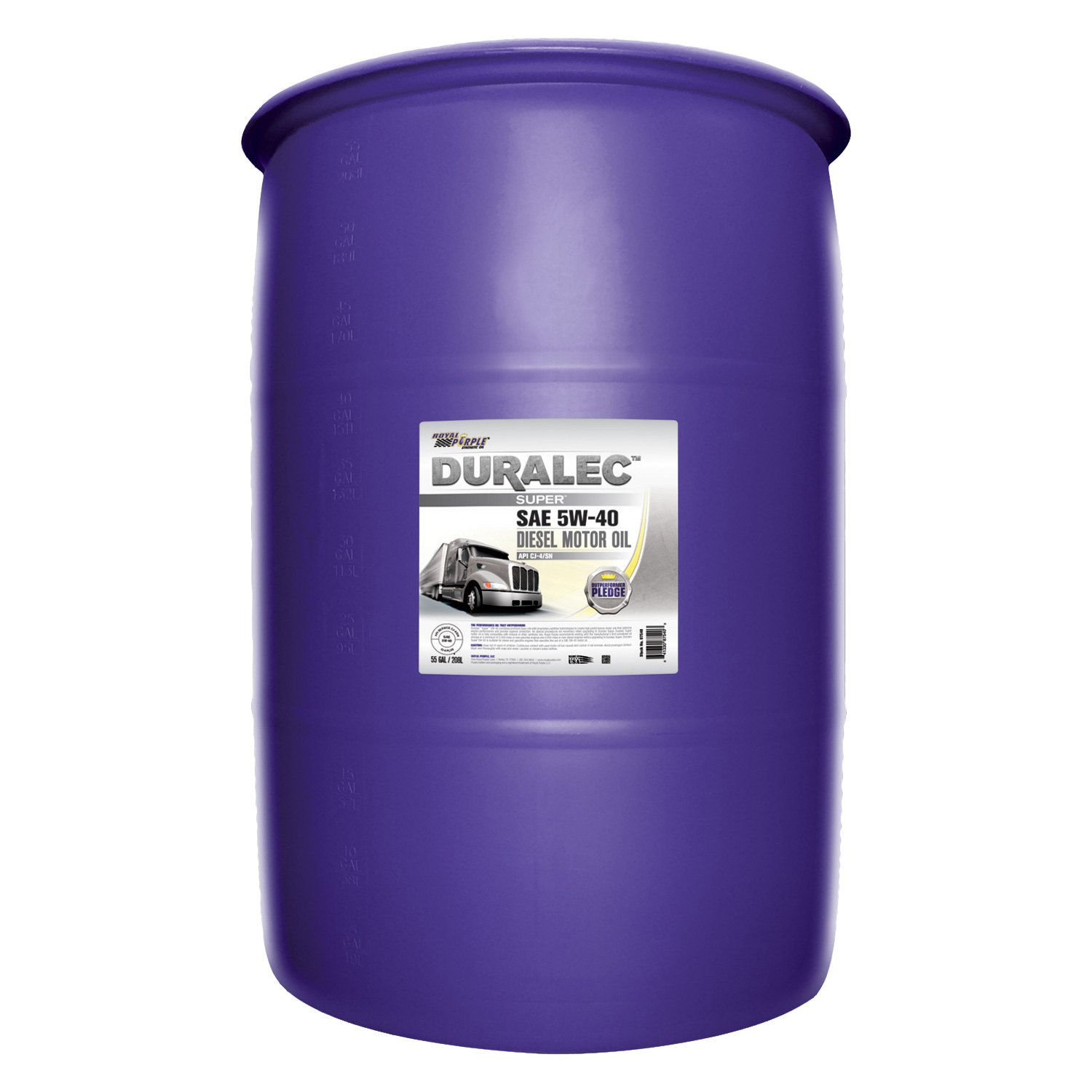 Royal purple 87540 duralec super sae 5w 40 high for Gallon of motor oil