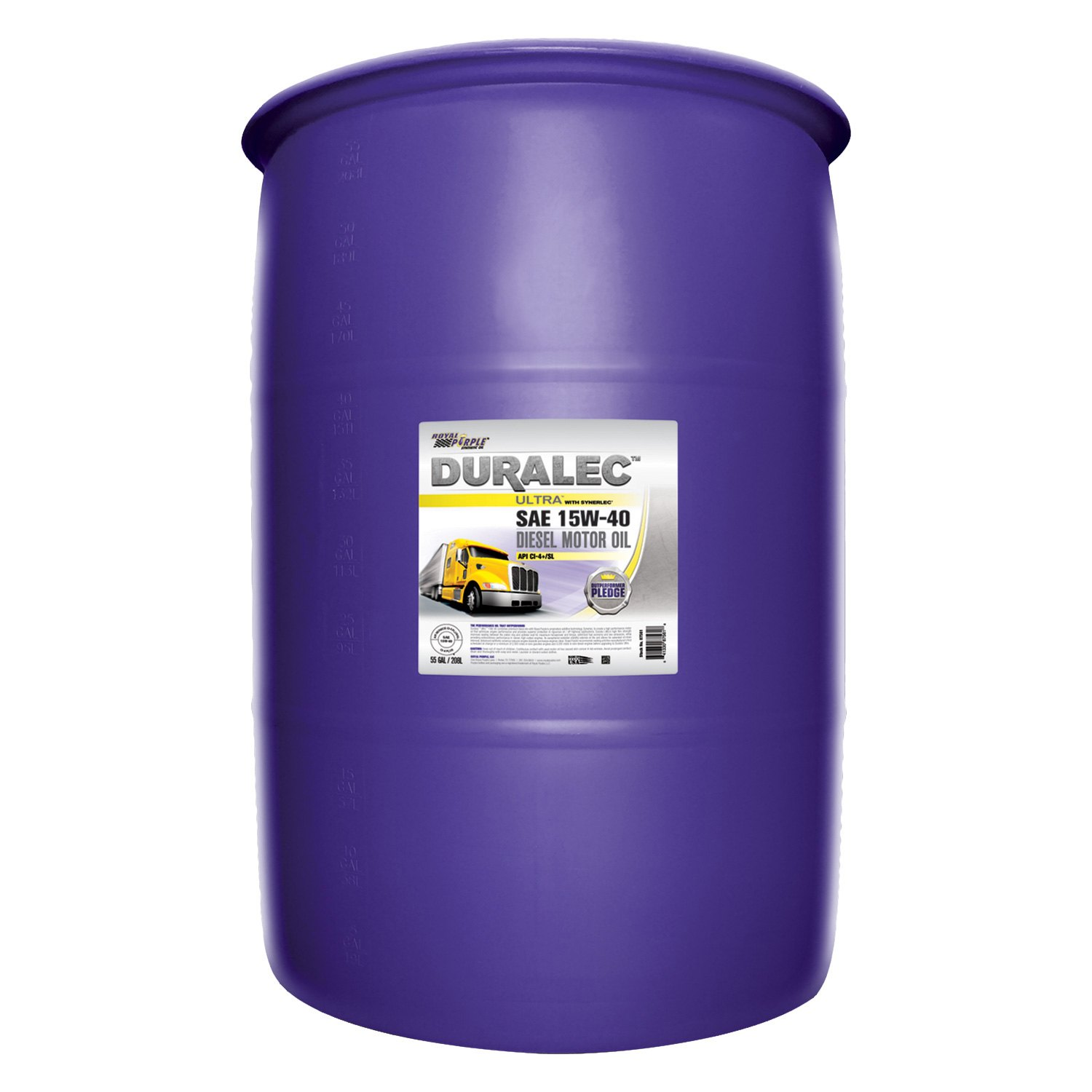 royal purple 87561 duralec ultra sae 15w 40 high On 55 gallon motor oil prices