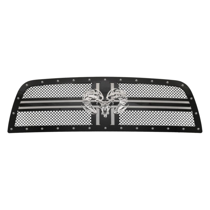 Royalty Core Ram 3500 2018 1 Pc Rcr2 Clic Design Gloss Black 10 0 Mesh Main Grille