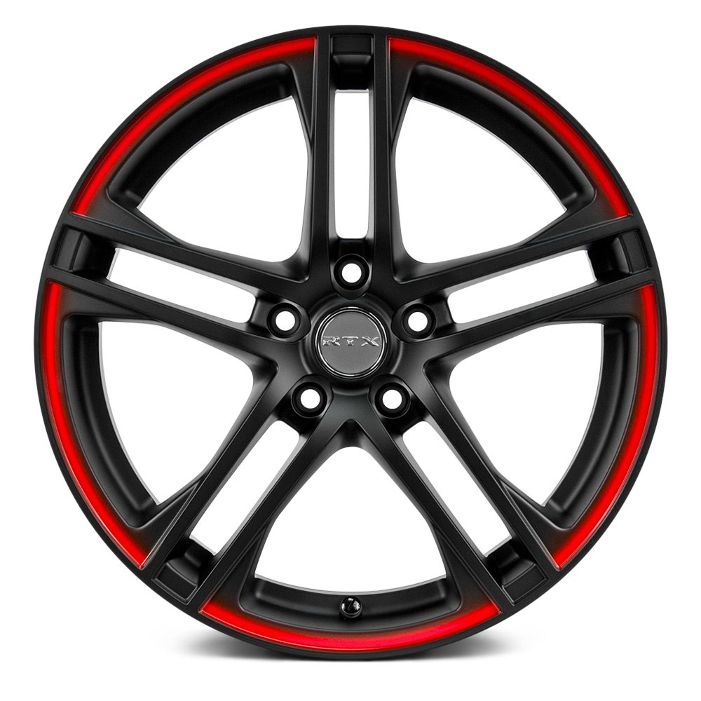 Rtx 174 Apex Wheels Black With Red Lip