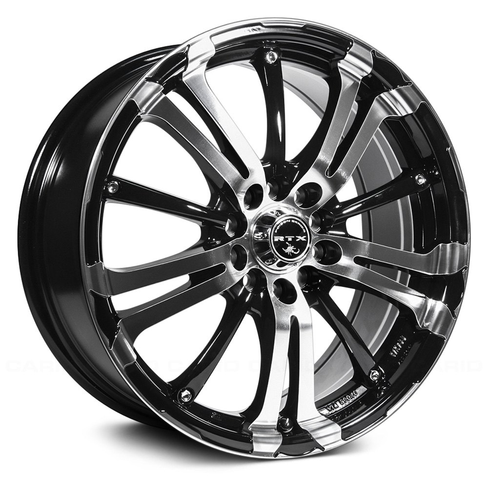 Ford Focus Hatchback Rims >> RTX® ARSENIC Wheels - Black with Machined Face Rims