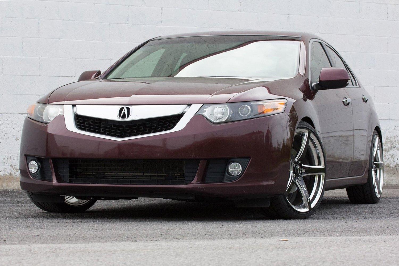 RTX ILLUSION Wheels White With Black Face Rims - Acura tsx black rims