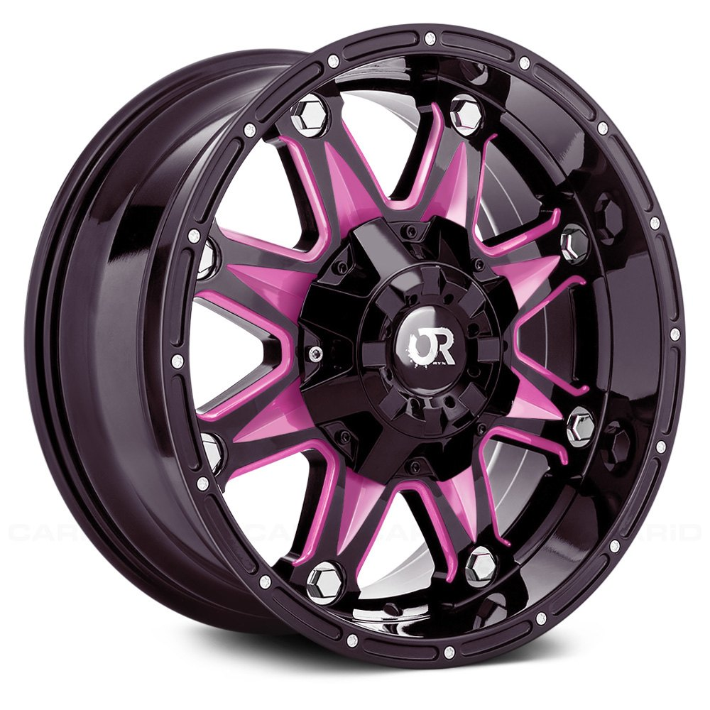 Rtx 174 Spine Wheels Gloss Black With Pink Accents