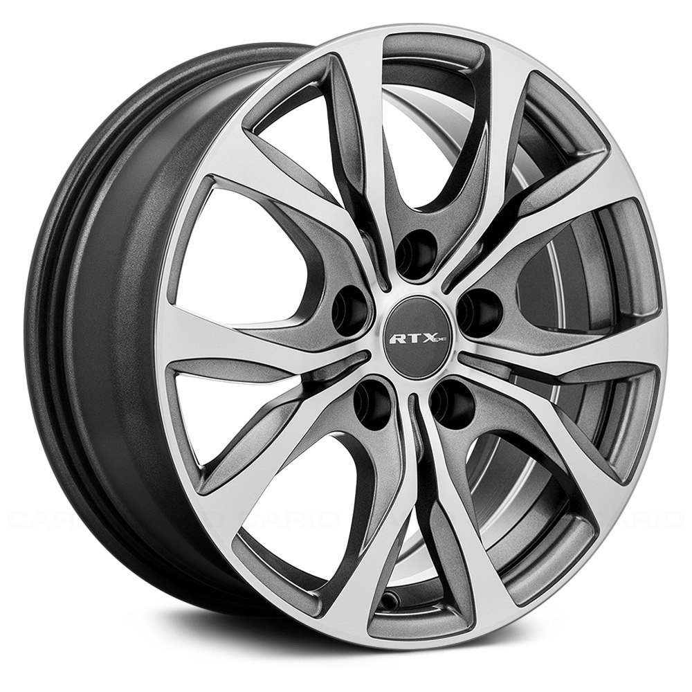 rtx windsor wheels gunmetal with machined face rims 082579 carid com