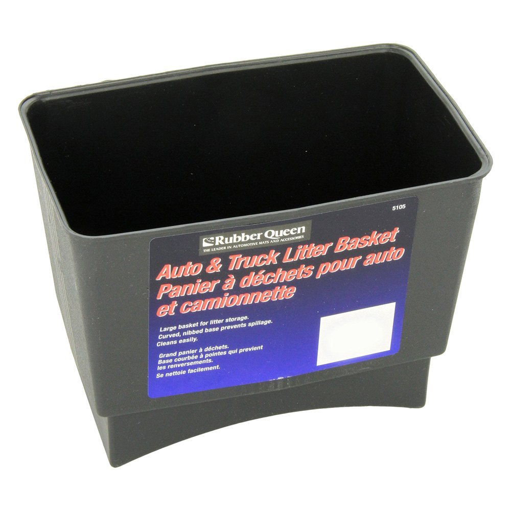 Rubber Queen 174 51051 Black Plastic Trash Can