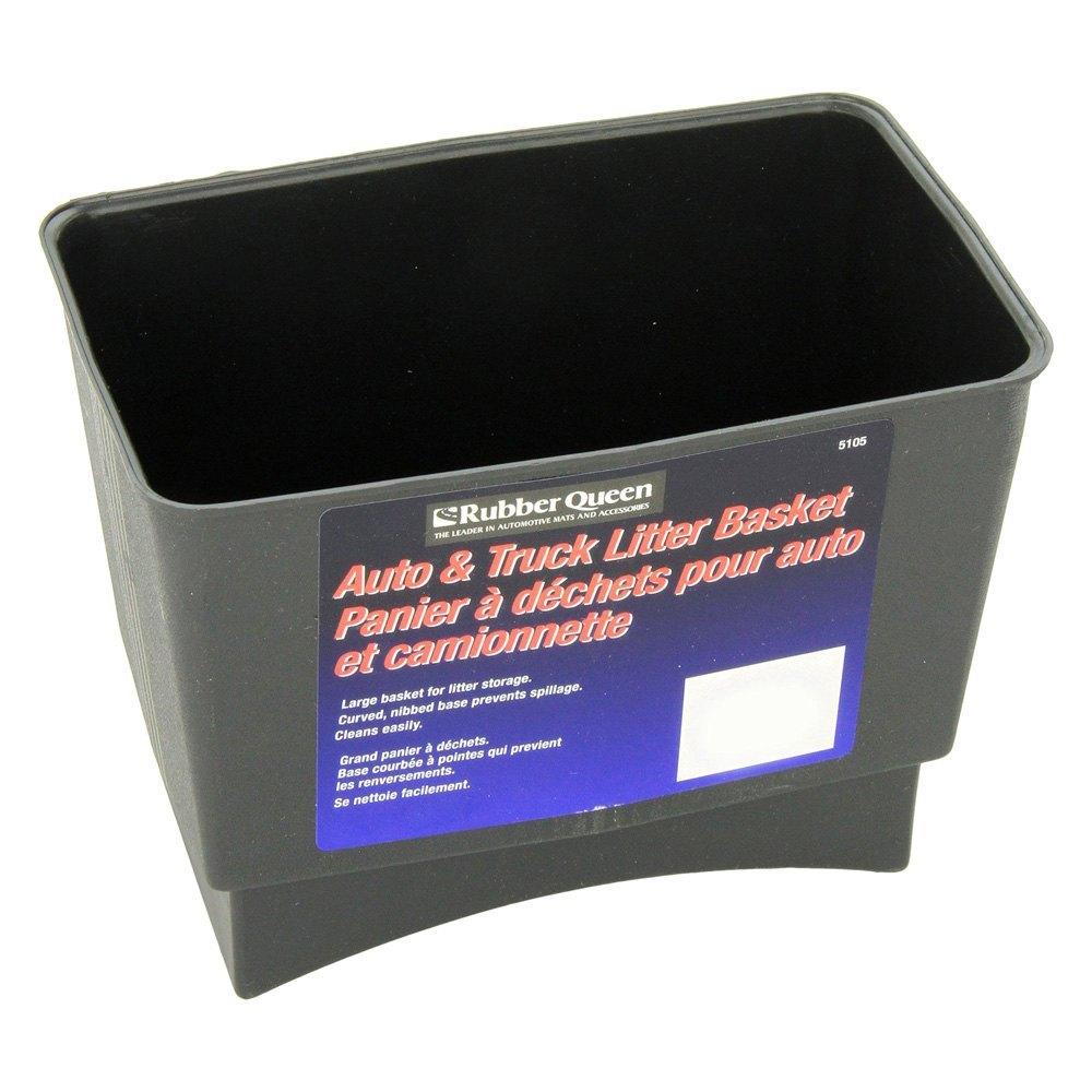Rubber queen floor mats -  Rubber Queen Black Plastic Trash Can