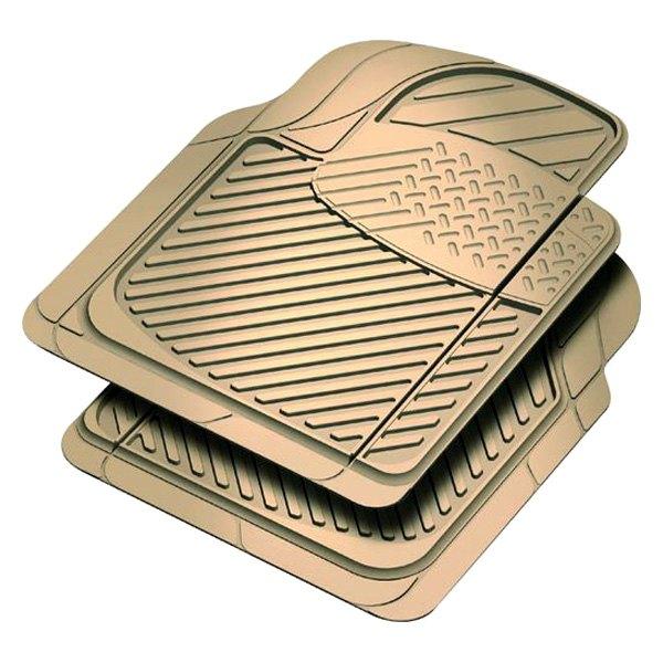 Rubber queen 70903 truck floor mats beige 2 piece front for 1 piece floor mats trucks