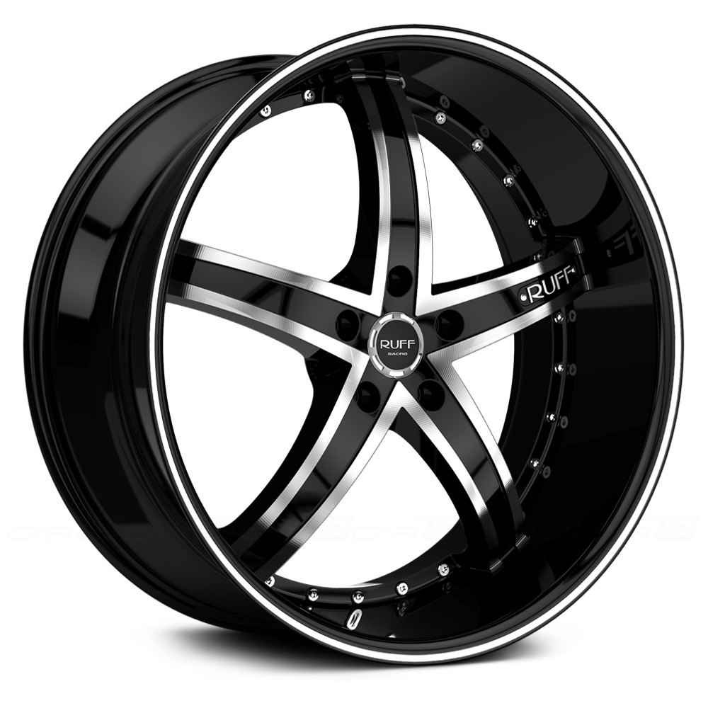 Ruff Racing 174 R953 Wheels Black With Machined Face And