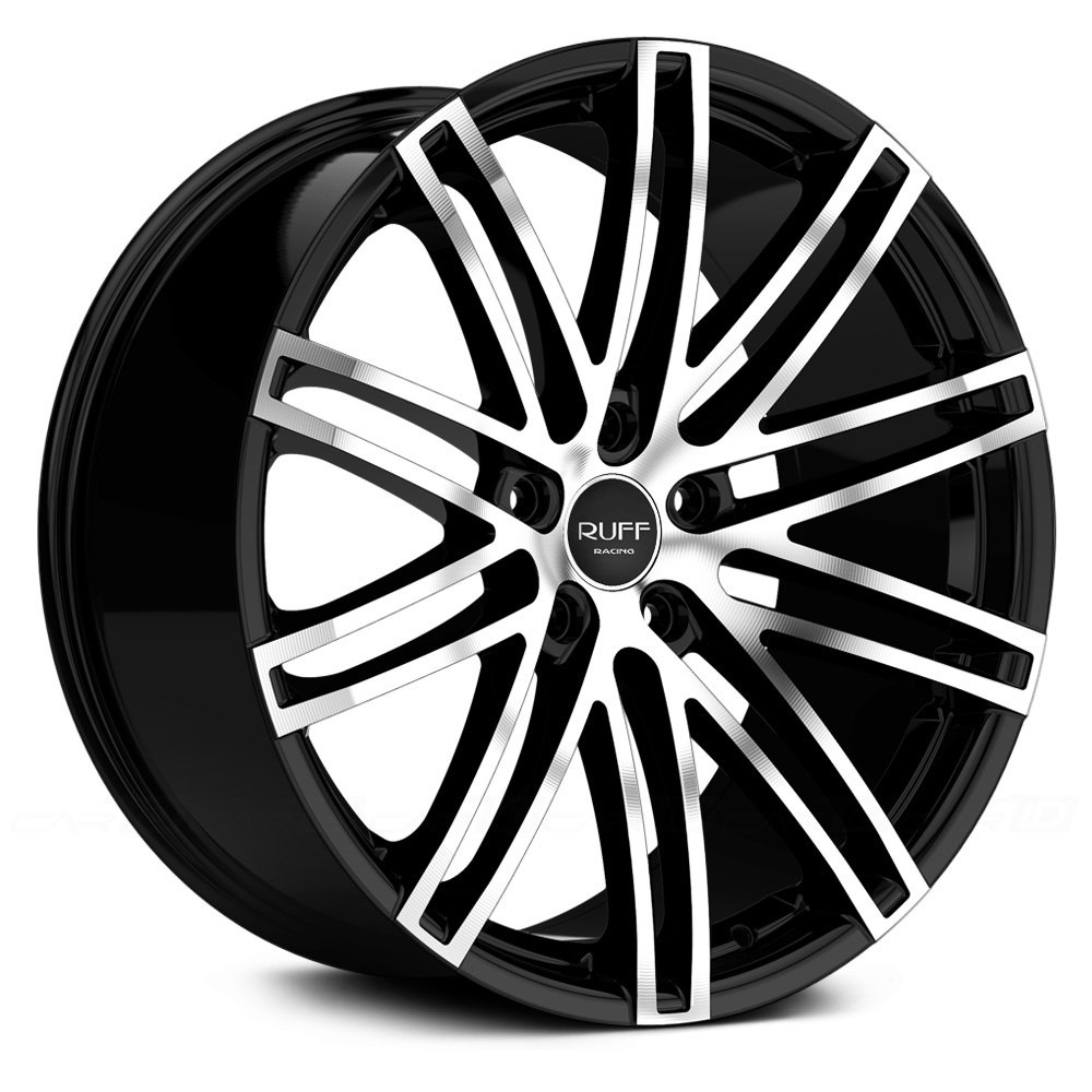 RUFF RACING® R955 Wheels - Black with Machined Face Rims