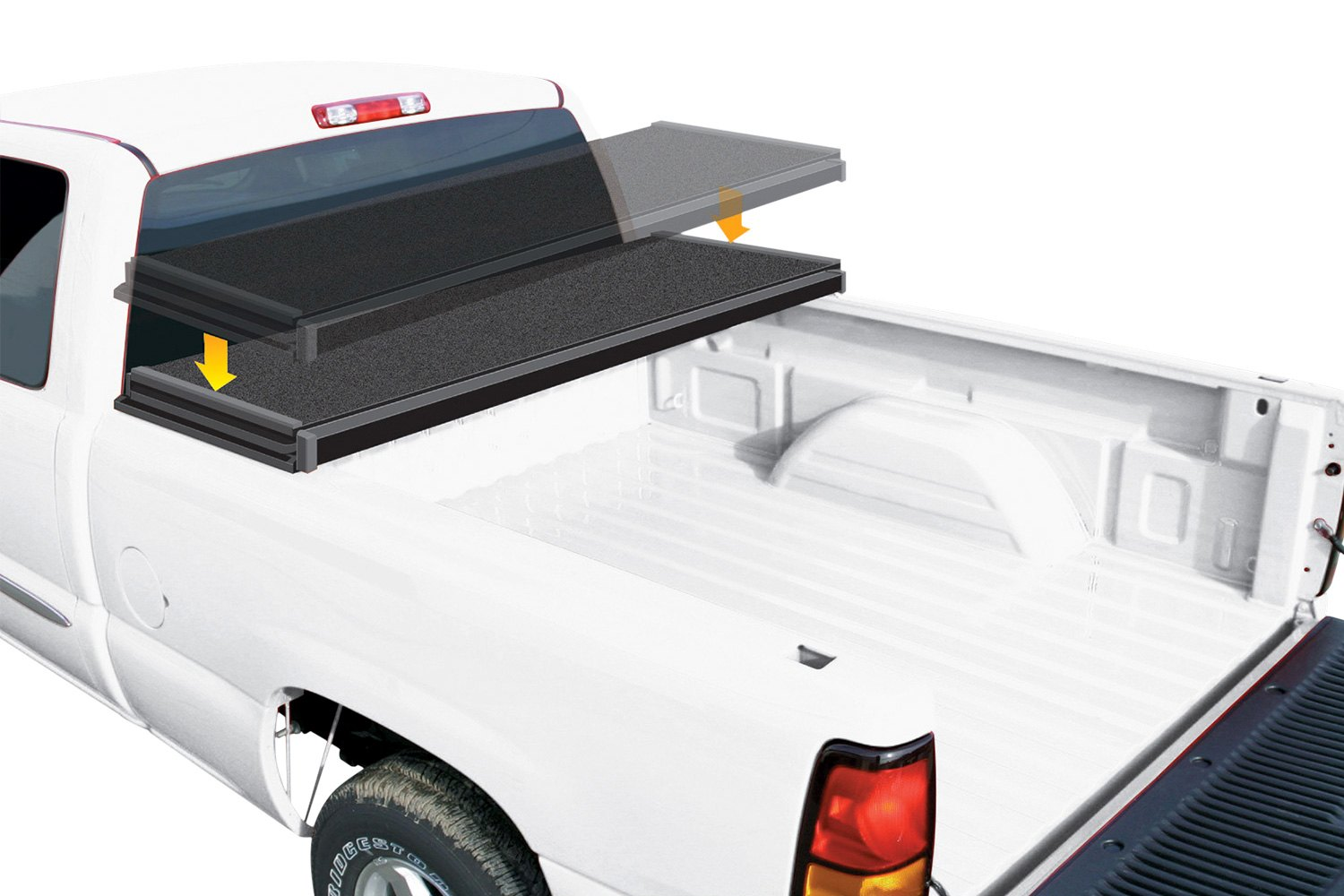 rugged liner chevy colorado 2016 e series hard folding tonneau cover. Black Bedroom Furniture Sets. Home Design Ideas