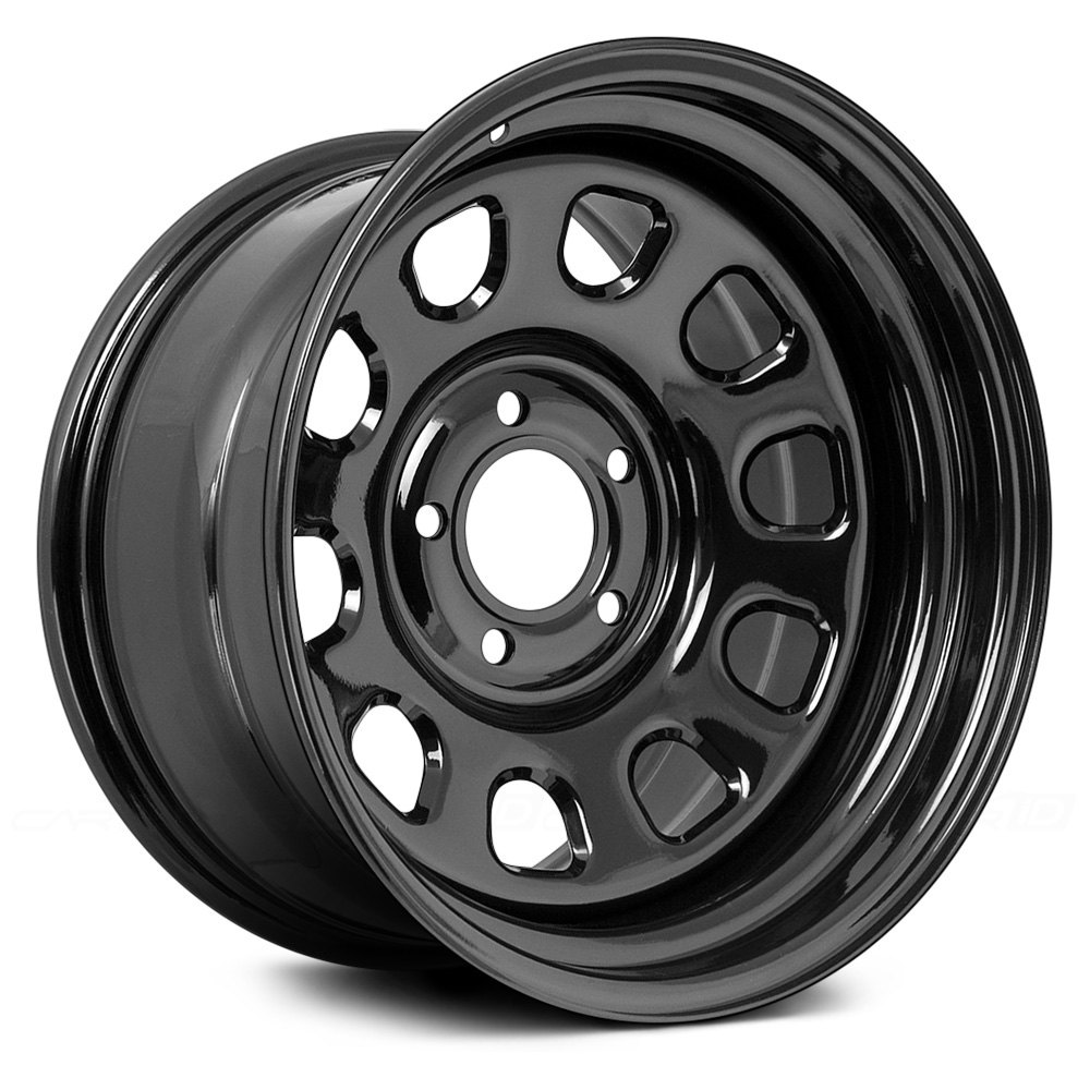 Rugged ridge d window wheels black rims for 17 inch d window wheels